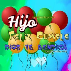tarjeta hijo mio feliz cumple Birthday Wishes, Happy Birthday, Birthdays, Berry, Club, Facebook, Happy Aniversary, Happy Birthday Wishes, Happy Birthday Greetings