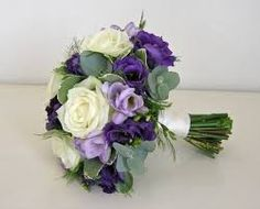 Image result for purple and cream wedding bouquets