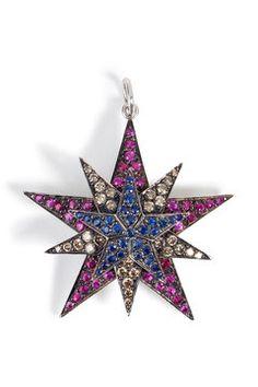 Anhänger aus 18kt Gold mit Diamanten, Rubinen und Saphiren von Ileana Makri