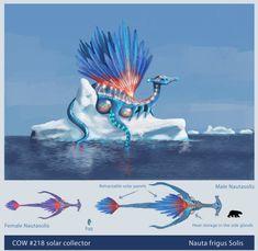 COW 218 Nautasolis by Mathieustern Subnautica Creatures, Curious Creatures, Mythical Creatures Art, Forest Creatures, Magical Creatures, Subnautica Concept Art, Alien Concept Art, Creature Concept Art, Creature Design