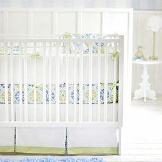 Pedal Pusher in Blue Crib Bedding Set