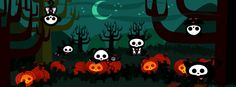 Pumpkins and Skeletons Facebook Cover