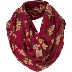 Mulberry Cluster Floral Snood ($32) ❤ liked on Polyvore featuring accessories, scarves, accessories - scarves, fillers, women, floral scarves, floral shawl, snood scarves, woven scarves and floral print scarves