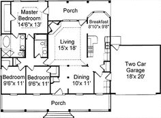 simple house plans   great room   Sq Ft House Plans     Sq Ft House Plans  Beautiful and Modern Design   Kerala Home Designs   I like this floor plan  Flip the bedrooms so the master is in the front and