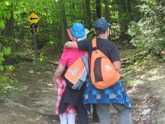 Time for a little family bonding on a hike with OurFamilyWorld Sling Bags!