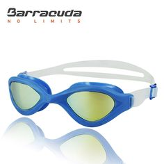 Barracuda Swim Goggle BLISS MRROR – One-piece Frame, Anti-fog UV Protection Anti-glare, Easy adjusting Quick Fit Lightweight Comfortable No leaking, Triathlon Open Water for Adults Men Women #73310