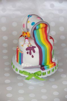 art themed birthday cake | Art themed Lalaloopsy cake