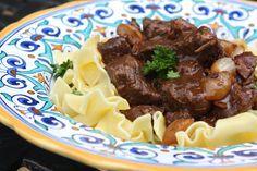 Julia Child's Beef Bourguignon- The definitive recipe plus a bonus video of Julia making it during her original PBS series