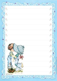 Imagens pra vocês: Lindos papéis de carta da Sarah Kay - Papel de carta da Sarah Kay para imprimir Sarah Key, Lined Writing Paper, Writing Papers, Pretty Writing, Envelopes, Family Organizer, Holly Hobbie, Tatty Teddy, Journal Paper