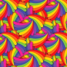 Rainbow Fan Pattern Art Print and gifts from hippygiftshop.com