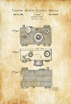 Argus C Photographic Camera Patent - Patent Print Wall Decor Photography Art Camera Art Vintage Camera Camera Decor Photographer Gift by PatentsAsPrints