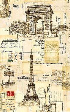 eQuilter I Dream Of Paris - Tourist Ephemera - Ivory