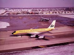 Braniff International Boeing 720-048 N7082 is poised to commence its take-off roll on 31L at Dallas-Love Field, circa February 1966. Next in line is Braniff International Lockheed L-188A Electra N9701C. (Image: Braniff Flying Colors Collection)