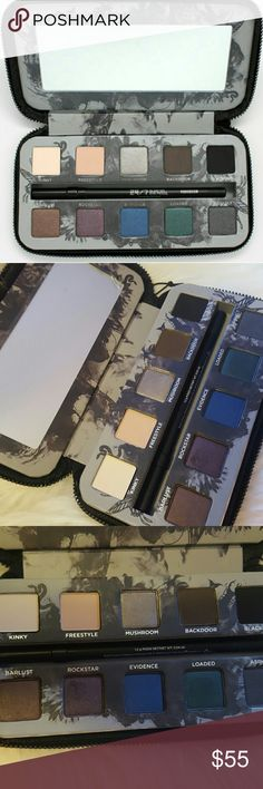 Urban decay smoked palette I believe this was limited edition as it is no longer available and very hard to find!! Brand new. To be completely honest I did swatch the purple (rock star) and green (loaded) colors but did not touch any other colors and only swatched once. Comes with full size perversion 24/7 eye pencil, brand new and untouched. The mirror still has the plastic wrap protection. Urban decay has amazing quality eye shadows but I haven't found myself using this palette, so I…