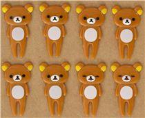 Rilakkuma brown bear food picks for Bento Box Lunch Box $6.36