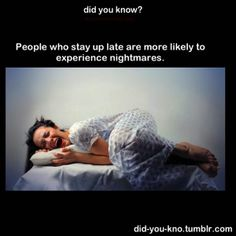 Cool Did You Know Facts- People who stay up late have more?