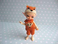VORBESTELLUNG Hemd Höschen Mütze FUCHS für RealPuki BJD Puppe Handmade Outfit for Real Puki doll Fairyland von NiceMiniThings auf Etsy