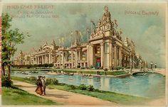 St Louis Worlds Fair1904 Hold to Light HTL Vintage Postcard Electricity Building Saint Louis World's Fair 1904 Hold to Light, HTL, Palace of Electricity. Unused J. Koehler collectible antique vintage