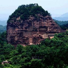 Maijishan Caves, Tianshui, Gansu Province, China (someone I love lives in Tianshui, and I can't wait to go see her this summer)