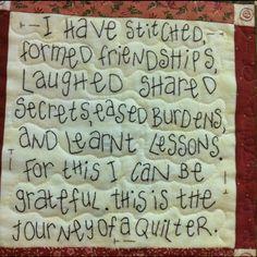 Quilters unite. Love this!