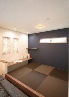 ブラウン×ネイビーが落ち着いた印象を与える統一感のある住まい|施工実績|愛知・名古屋の注文住宅はクラシスホーム Japanese Modern House, Japanese Interior, Home Office Design, Home Interior Design, Loft Spaces, Diy Home Improvement, Dream Bedroom, Furniture Design, Home Decor
