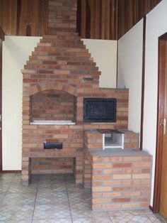 fogão de lenha pré moldado - Pesquisa Google Outdoor Oven, Barbacoa, Cottage Homes, Sweet Home, Backyard, Layout, Interior Design, Exterior, Kitchen