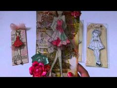 Prima Doll Stamp Tags - YouTube