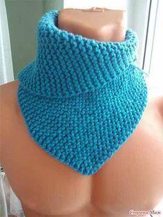Seamless Garter Stitch Cowl pattern by Diana Levine Crochet Wrap Pattern, Knit Or Crochet, Free Crochet, Knitting Designs, Knitting Patterns, Crochet Patterns, Loom Knitting, Free Knitting, Short Scarves