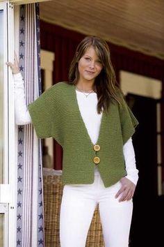 Garter stitch swingy sweater b |