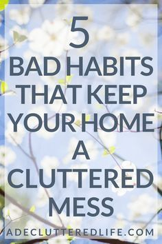 Want to know the big difference between those with cluttered, messy homes and those with mostly clutter-free homes? Good habits can put a clutter-free home on autopilot for you. And bad habits can ensure that you stay stuck in a cluttered mess. Cleaning Checklist, House Cleaning Tips, Deep Cleaning, Spring Cleaning, Cleaning Hacks, Cleaning Schedules, Daily Cleaning, Cleaning Routines, Kitchen Cleaning