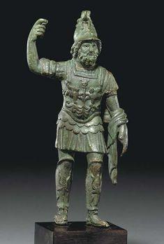 A roman bronze of Mars Ultor circa century A. Ancient Rome, Ancient Art, Ancient History, Roman Sculpture, Sculpture Art, Bronze Sculpture, Greek Statues, Buddha Statues, Stone Statues