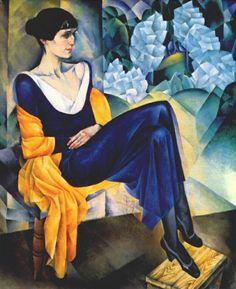 Portrait of Anna Akhmatova, 1914  Nathan Altman