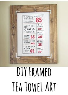 tea towel frame easy art for the kitchen attainable diy