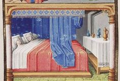 The Hague, MMW, 10 A 11 fol. 232v  Book 5, 3 Twins lying in bed and their fate (2nd of 2)
