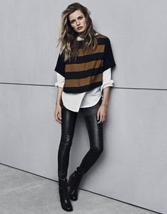 A skinny silhouette with an oversized silhouette.  Fall 2014  Already thinking of fall...H&M Fall 2014