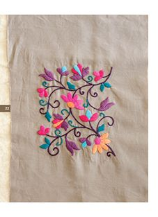 .:: el arte de tejer | publicaciones::. Mexican Embroidery, Cute Embroidery, Machine Embroidery Applique, Silk Ribbon Embroidery, Crewel Embroidery, Hand Embroidery Designs, Cross Stitch Embroidery, Embroidery Patterns, Bordado Floral