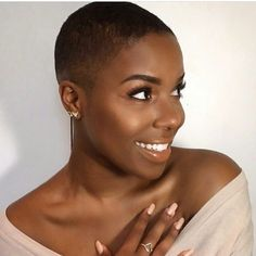 Great Short Hairstyles for Black Women – My hair and beauty Short Natural Haircuts, Short Afro Hairstyles, Natural Hair Cuts, Very Short Haircuts, Cool Hairstyles, Natural Hair Styles, Wedding Hairstyles, Virtual Hairstyles, Modern Haircuts