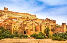 Amazing view of Kasbah Ait Ben Haddou near Ouarzazate in the Atlas Mountains of Morocco. UNESCO World Heritage Site since Artistic picture. Beauty world. Atlas Mountains Morocco, 3 Days Trip, World Heritage Sites, Holiday Travel, Marrakech, Monument Valley, Tours, Stock Photos, Pictures