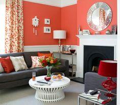 Wohnzimmer Gestaltung Mit Interessanter Wandgestaltung