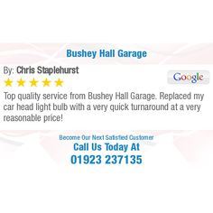 Top quality service from Bushey Hall Garage. Replaced my car head light bulb with a very. Car Head, Online Reviews, Head Light, Light Bulb, Garage, Top, Carport Garage, Light Globes, Garages