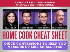 Home Cook Cheat Sheet: Measurement Conversion Guide [INFOGRAPHIC] — All-Star Academy
