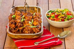 Portuguese Chicken Kebabs with Charred Corn Salsa - Cooking with Tenina Portugese Chicken, Corn Salsa, Portuguese Recipes, Portuguese Food, Cooking Recipes, Healthy Recipes, Popular Recipes, Main Meals, The Best
