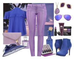 """""""Pop Of Purple!"""" by ann-kelley14 ❤ liked on Polyvore featuring Vince Camuto, Helix & Felix, Ray-Ban, Bella Bellissima, Gucci, Miss Selfridge, Cultural Intrigue, Michael Antonio, Henri Bendel and M-Edge"""