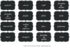 Casa e Fogão: Etiquetas para identificar seus potes na cozinha