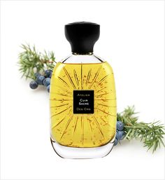 Inspired by the southern Spanish city of Cordoba, this scent is all about the vibrant warmth of the summer sun. Notes of leather and wood are blended with saffron, vetiver, and juniper berries for a powerful and elegant scent. It contains flecks of gold in it too, giving skin a subtle shimmer with each spray. Atelier Des Ors 'Cuir Sacré Eau de Parfum', AED 1,120/SAR 1,144 for 100ml Juniper Berry, Berries, Perfume Bottles, Summer Sun, Fragrances, Spanish, Vibrant, Southern, Notes