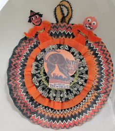 Halloween Rosette chenille vintage style by Antiquememories, $14.99