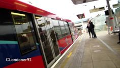 Docklands Light Railway Canning Town to Stratford B07 Rolling stock Filmed on 8th December 2016
