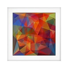 Art.com Framed Wall Poster Print Abstract Geometrical Background -... ($85) ❤ liked on Polyvore featuring home, home decor, wall art, pumpkin, geometric home decor, geometric wall art, handmade home decor, wooden wall art and wood home decor