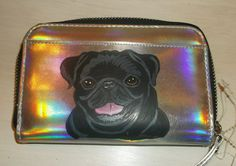 Pug Dog Custom Painted Women's Mini Silver by daniellesoriginals, $24.00