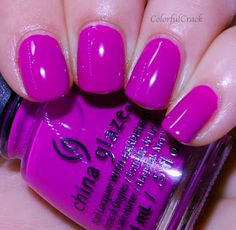 """China Glaze: ⭐ Violet-Vibes ⭐ a bright violet creme nail polish from the """"Speaker Your Mind"""" set"""